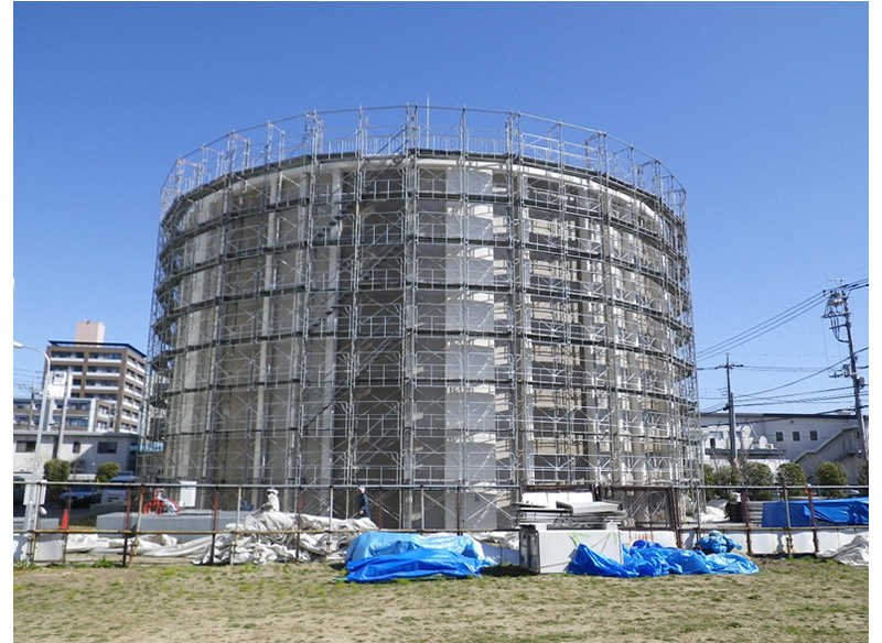 東部浄水場配水池外面塗装工事 埼玉県戸田市